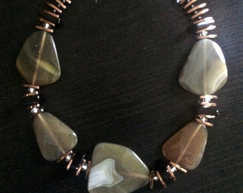 Zambian Dusk Necklace. One of a kind.