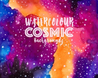 Watercolor Cosmic Background Pack