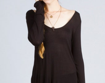 Micro Modal Long Sleeve Tunic (Made in USA)