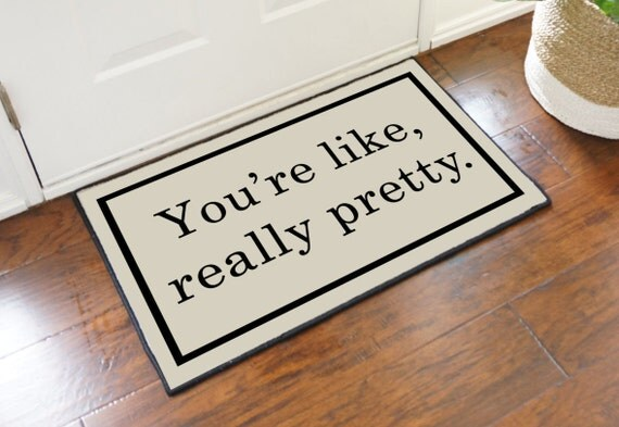You 39 re like really pretty decorative door floor by for You re like really pretty rug