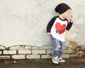Boys Valentine Shirt, Heart Breaker Shirt, Vday Shirt, Valentines Day Baby, Boy