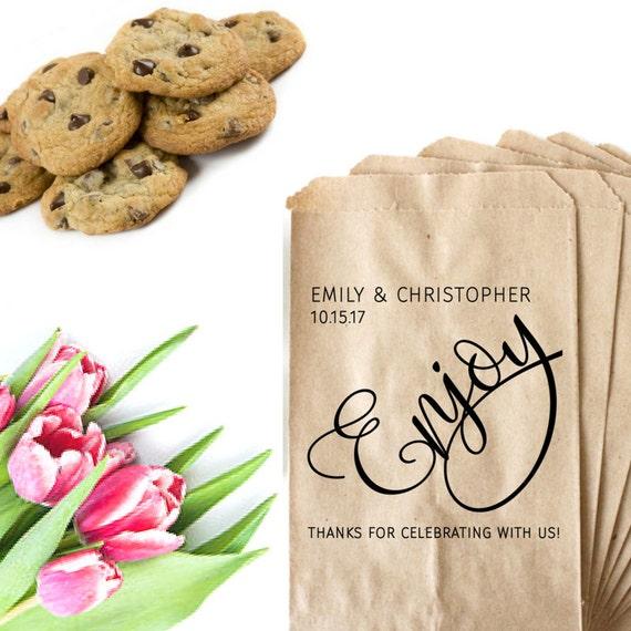 Wedding Favor Bags For Cookies : Wedding Cookie Bag Stamp - Wedding Favor Bag Stamp - Trail Mix Bag ...