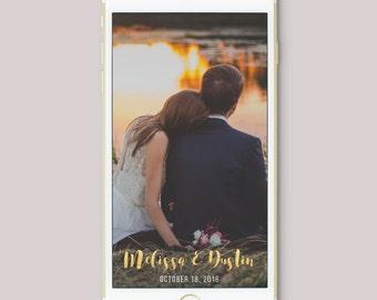 Wedding Geofilter, Wedding Filter, Custom Wedding Snapchat Filter, Wedding Snapchat Filter, Engagement Snapchat filter, Snapchat Geofilter