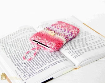 Womens phone case, girls phone case. Crochet phone case.