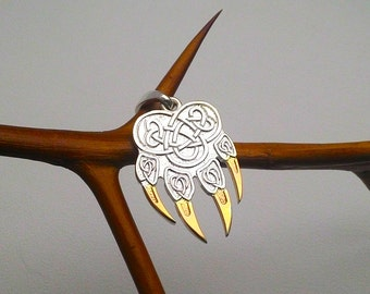 Wolf Paw Necklace.Wolf Paw Charm.Animal Necklace.Animal Claw Jewelry.Wolf Paw Pendant.Wolf Claw Jewelry.Wolf Claw.Animal Claw.Wolf Hunter