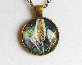 Fabrique Pendant Necklace, handmade, antiqued bronze, unique gift