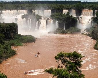 Brazil, Iguazu Falls, Iguazu River, waterfall, ladscape photography, Brazil photography, wall art print, professional photo, #014