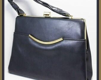 Vintage Kelly Handbag,Vintage Grey Handbag,Vintage Purse,Vintage Purse,Vintage Faux Leather Pocketbook,Vintage Pocketbook,Grey Leather Purse