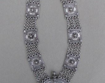 Former silver necklace from Rajasthan.