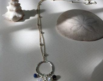 Beautiful Aqua Chalcedony and Gemstone Necklace