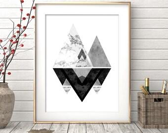 Instant Download Printable Art, Wall Art Prints, Black and White Prints, Modern Art, Geometric, Black and White Art, Wall Prints, Wall Decor