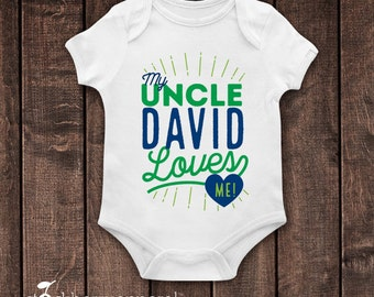 Best uncle outfit etsy my uncle loves me gift for niece i love my uncle custom toddler negle Images