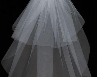 2 Tier Jewel Wedding Veil