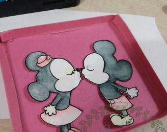 Key chain designs - Minnie and Mickey