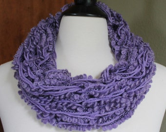 Lavender Textured Single Arm Knit Scarf