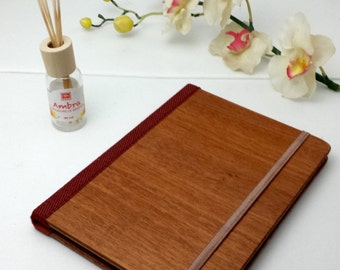 Cherry Scent Wood Journal, Wood Sketchbook, Scent Cover, Wood Notebook, Travel Notebook, Diary, Notes