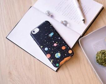 Hand Painted iPhone6/6s case -  Vivid Planet - Choco5Design