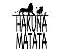 Hakuna Matata Disney Decal / Lion King Safari Magic Animal Kingdom Matching Father Son Disney Iron On Vinyl for Shirt 129