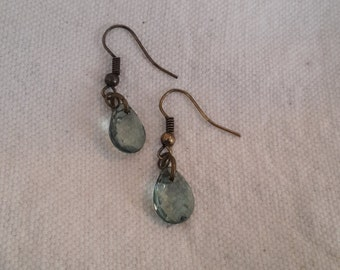 Light Green Teardrop Earrings