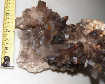 Smokey Quartz cluster Matrix (from pocket floor)