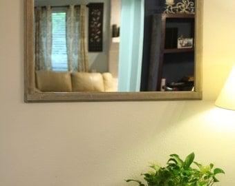 Silver Wash Pine Mirror