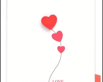 Love Red Heart Greeting Card #LV-090