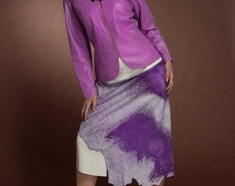 Purple Tattered Hem Skirt