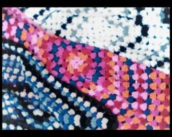 handmade crochet throw, baby blanket