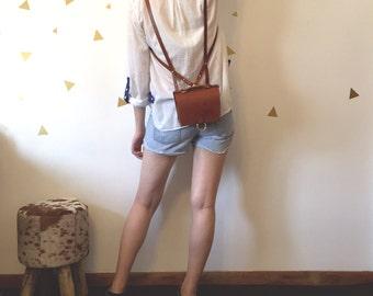 4-in-1 Mini Leather Bag / Handbag / Backpack / Hip Pack / Shoulder Bag / BOHO Style