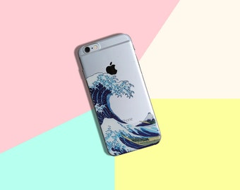 Hard Plastic | The Great Wave off Kanagawa Case, iPhone Clear Case