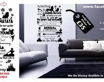 Disney wall decal disney wall sticker frozen hakuna matata toy story disney princess kids room girls wall decal