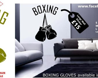 boxing gloves gym wall sticker
