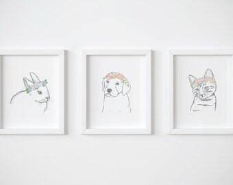 Animal Lovers Print Pack