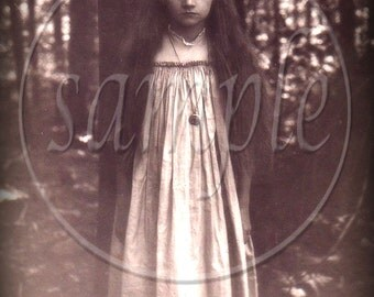 no6321 instant Digital Download - The Real Alice in Wonderland - Ghost Girl - Vintage photograph - odd strange beautiful ghostly - Collage