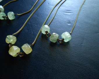 swamp thing - extra long layering prehnite beaded necklace
