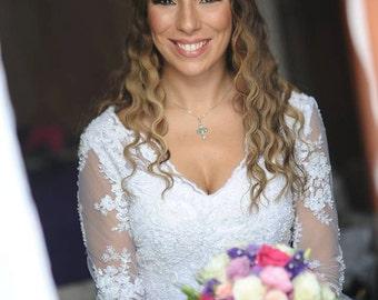 Wedding Bridal Circlet Celtic Circlets Tiara Diadem, 8mm Natural White Moonstone, Handmade, Celtic Weddings Renaissance Weddings, Cosplay
