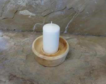 Votive Cande Holder - Hand Turned Box Elder Wood
