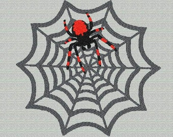 Halloween Spider and Web embroidery file