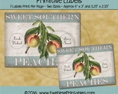 Instant Download - Digital Label Sheet - Sweet Southern Peaches - Printable PDF and/or JPG File