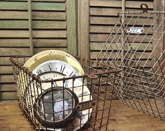 Free Shipping One Vintage  Metal Locker gym Basket Last one