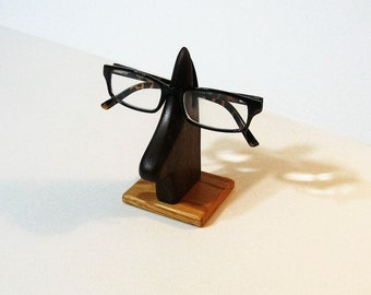 Eyeglass Holder Made Of Walnut And Oak Wood