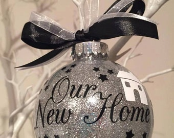 Our New Home personalised Christmas Bauble