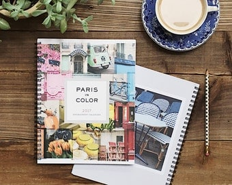 2017 Planner, Paris Calendar, Paris Photography 2017 Calendar Planner, Desk Calendar, College Student Gift for Her Stocking Stuffer
