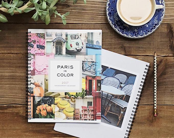 2017 Planner, Paris Calendar, Paris Photography 2017 Calendar Planner, Desk Calendar, College Student Gift for Her Stocking Stuffer