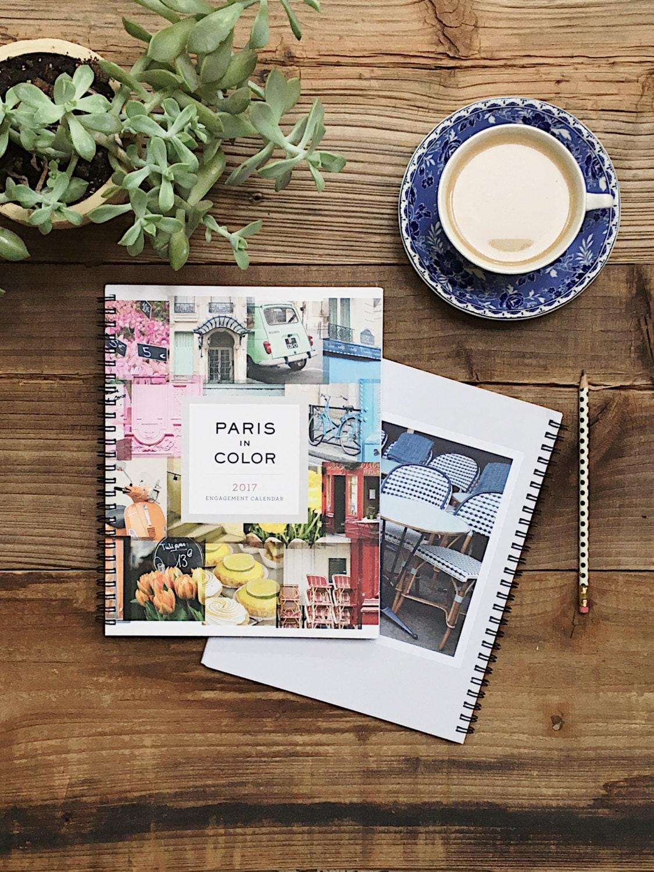 2017 Planner, Paris Calendar,