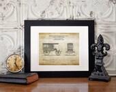 1889 Vintage Ambulance patent art print, ambulance blueprint art, paramedic gifts, EMT gifts, firefighter emt gift, christmas gift