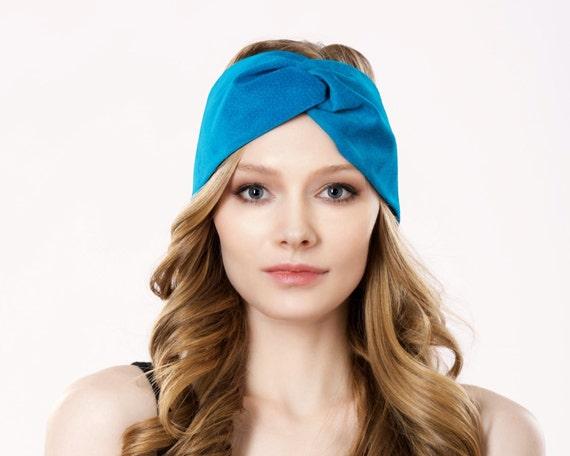 Leather Hair Accessory Boho Style Headband Turban Headband Ear Warmer Spring Fashion Boho Chic Head Wrap Hair Wrap Turquoise Suede Earmuff