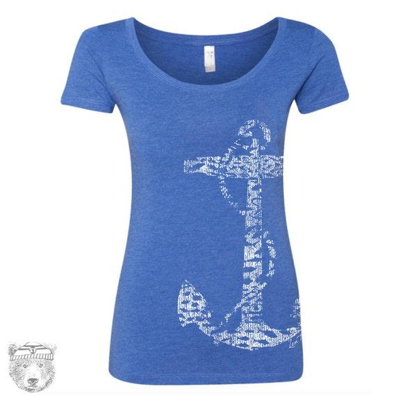 Womens ANCHOR TriBlend Scoop Neck Tee - T Shirt S M L XL XXL (+ Colors)