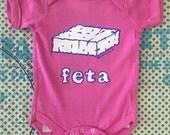 Feta Cheese Baby Onesie - Greek baby gift-gift