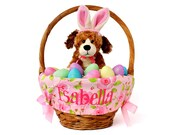 Personalized Easter Basket Liner - Spring Flowers - Basket not included - Personalized with name - Ships in time for Easter - LAST ONE